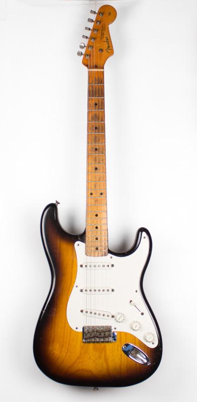 1955 Fender Stratocaster Ash Sunburst-2