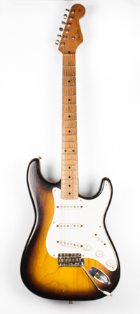 1955 Fender Stratocaster: Ash Body Sunburst