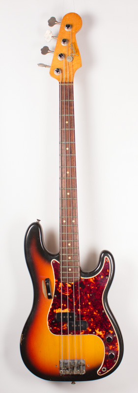 1965 Fender P Bass Sunburst-1