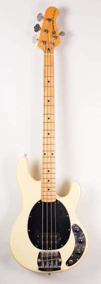 Music Man Stringray Bass String Through Body White