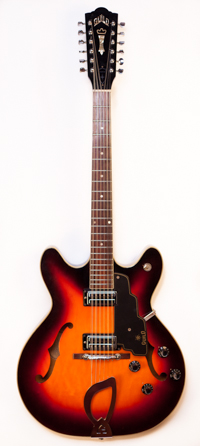 1960's Guild Starfire 12 Sunburst Original Case Serial #DE199