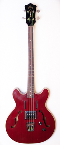 1960's Guild Starfire Bass One Pickup Cherry Red Serial #BA430