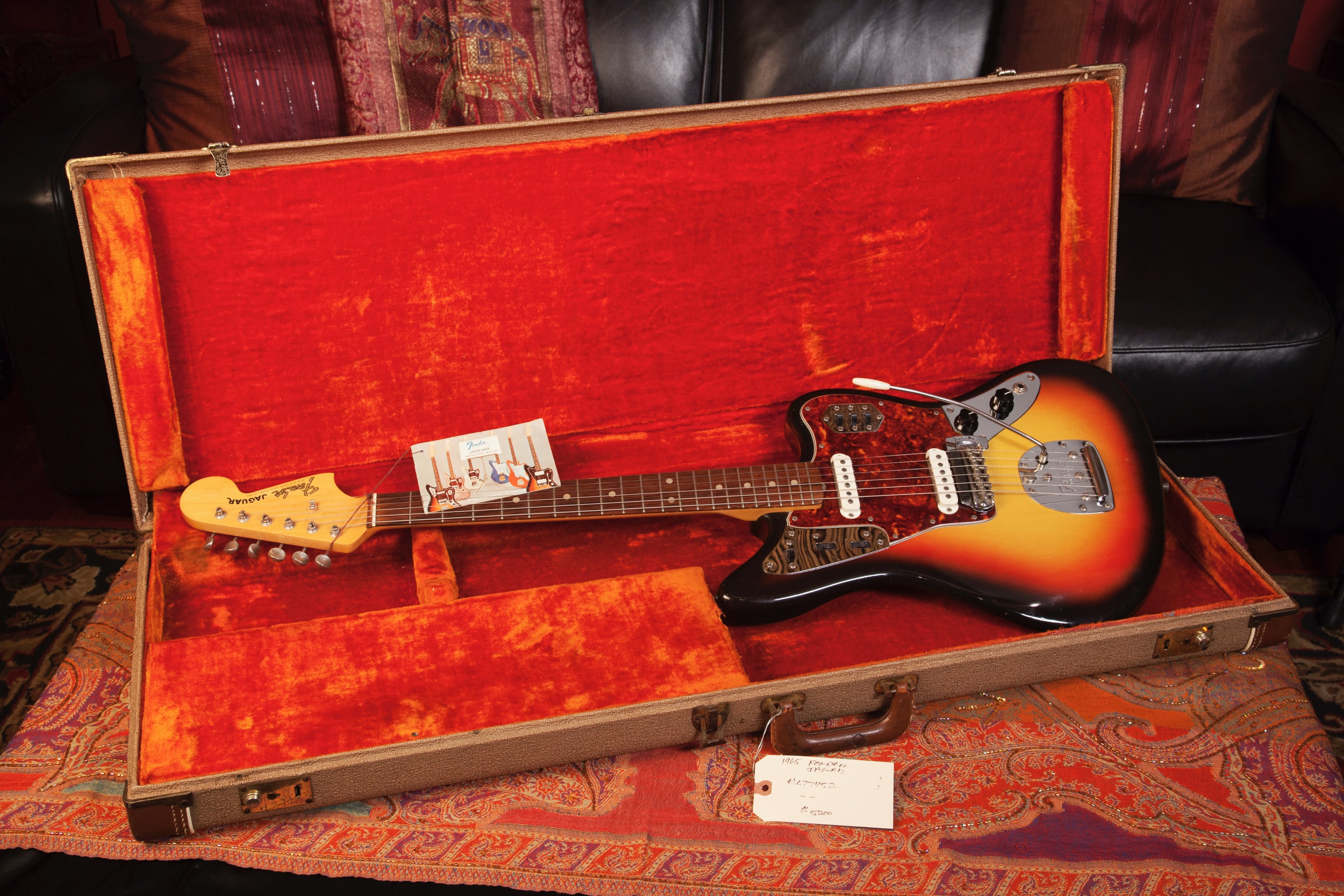 1965 Fender Jaguar Sunburst SN L77452