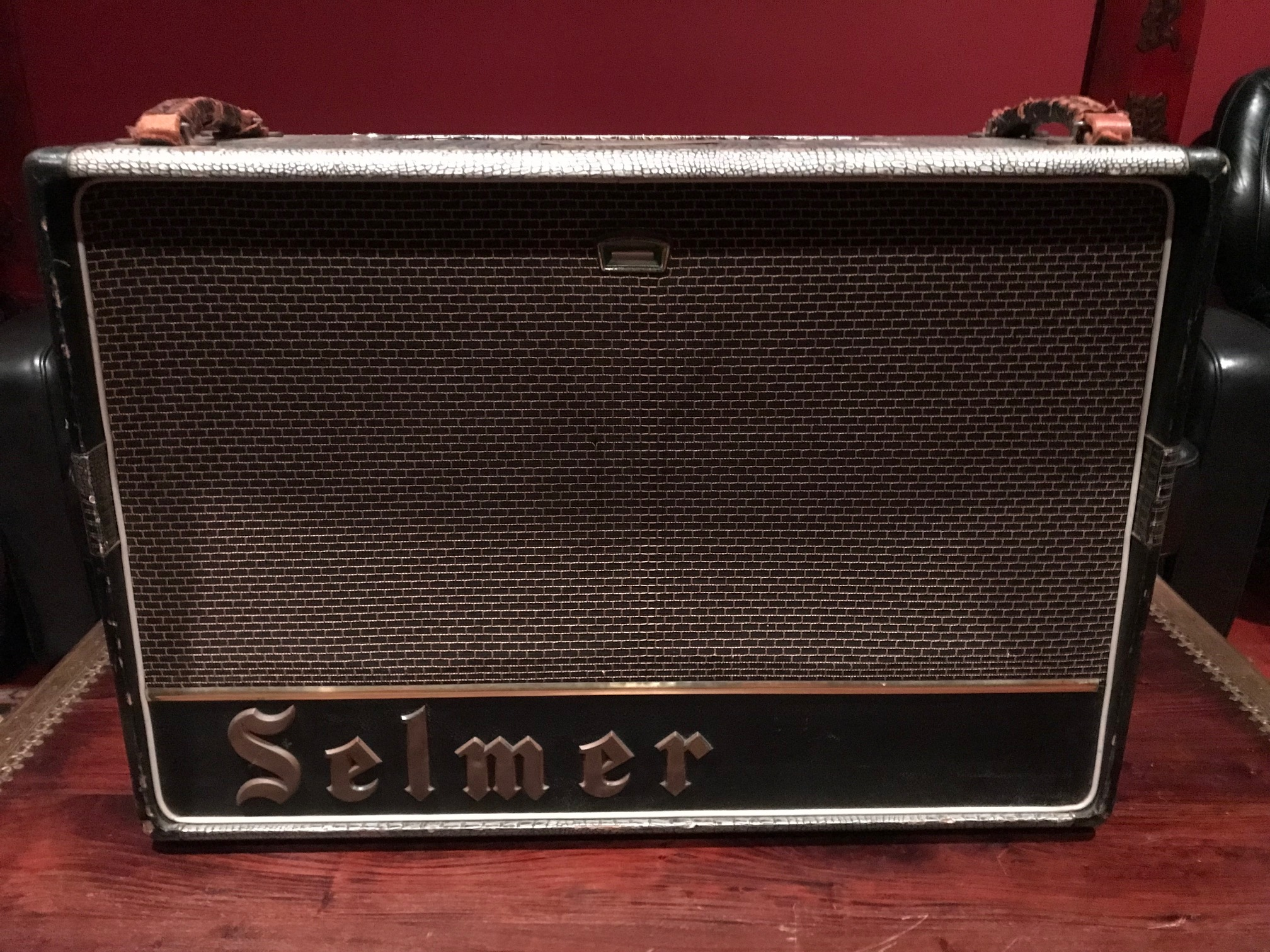 Mid-1960s Selmer Flashing Eye Zodiac Twin 30 True Voice 2x12 Combo Amplifier