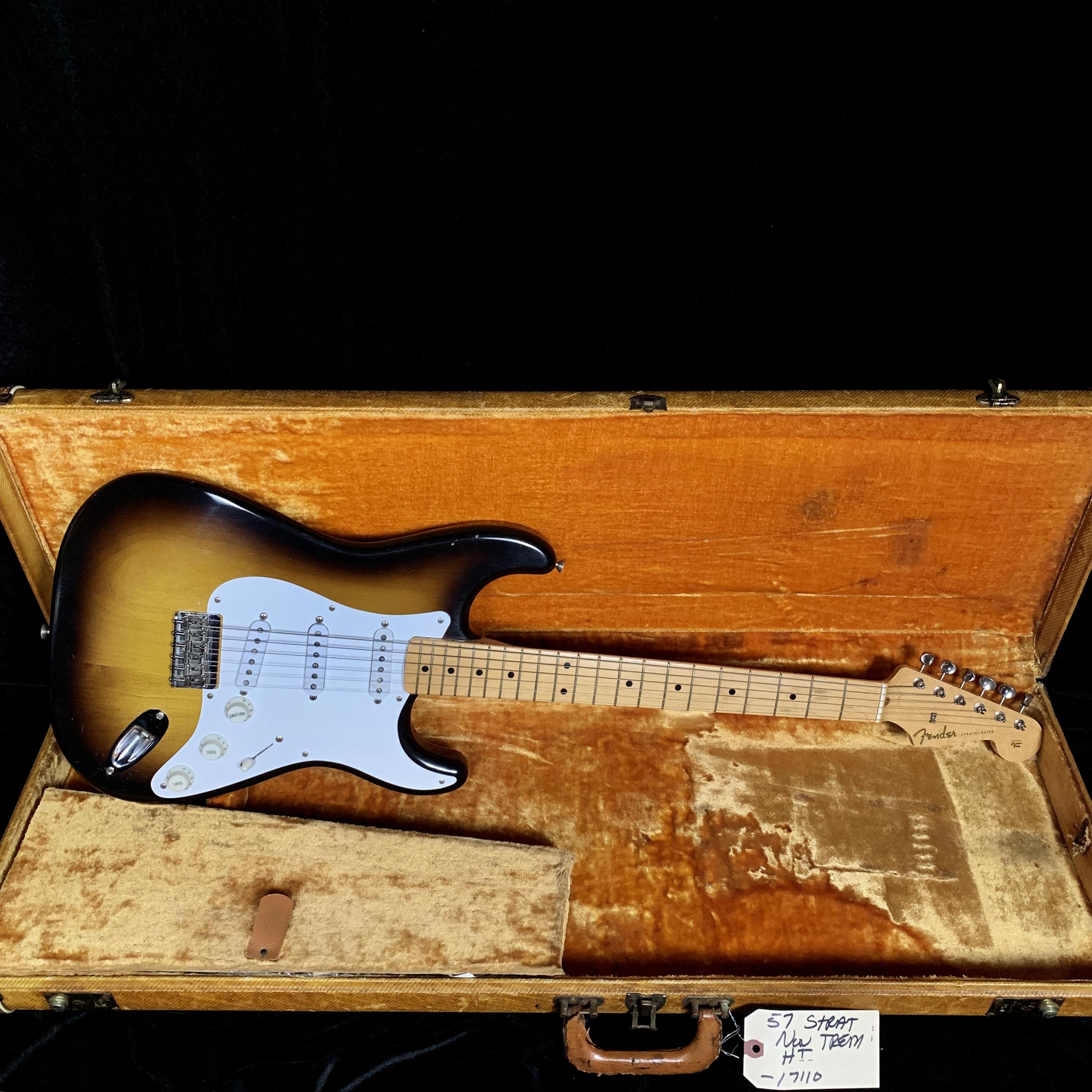 1957 Fender Stratocaster Sunburst Non-trem SN# 17110