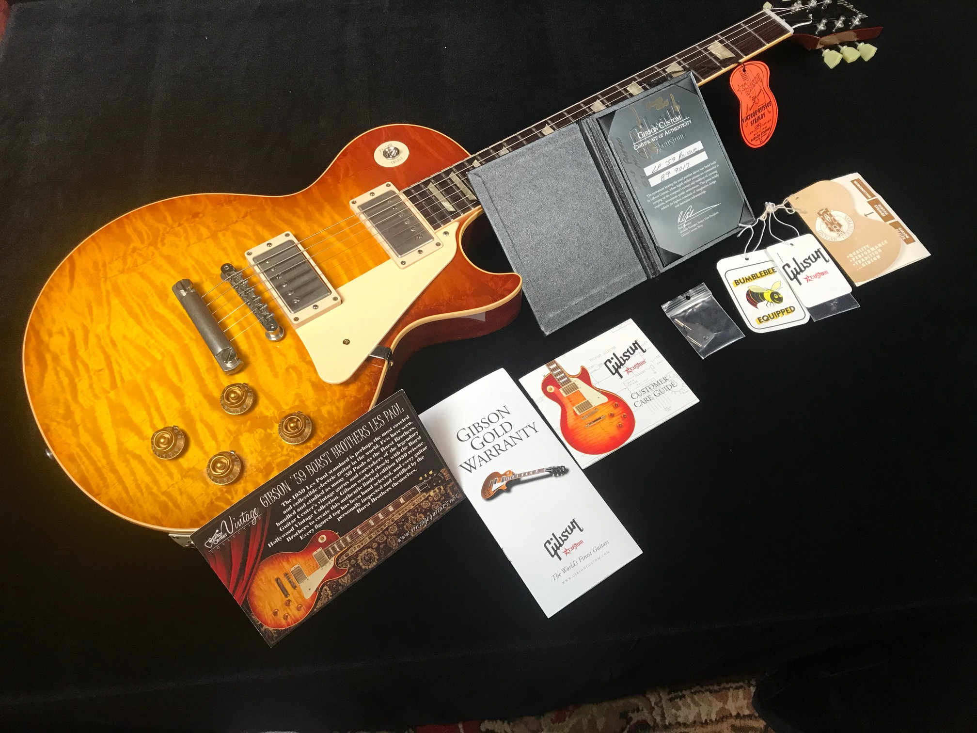 2009 Burst Brothers 1959 Gibson Les Paul Reissue First Run SN# B9 9017